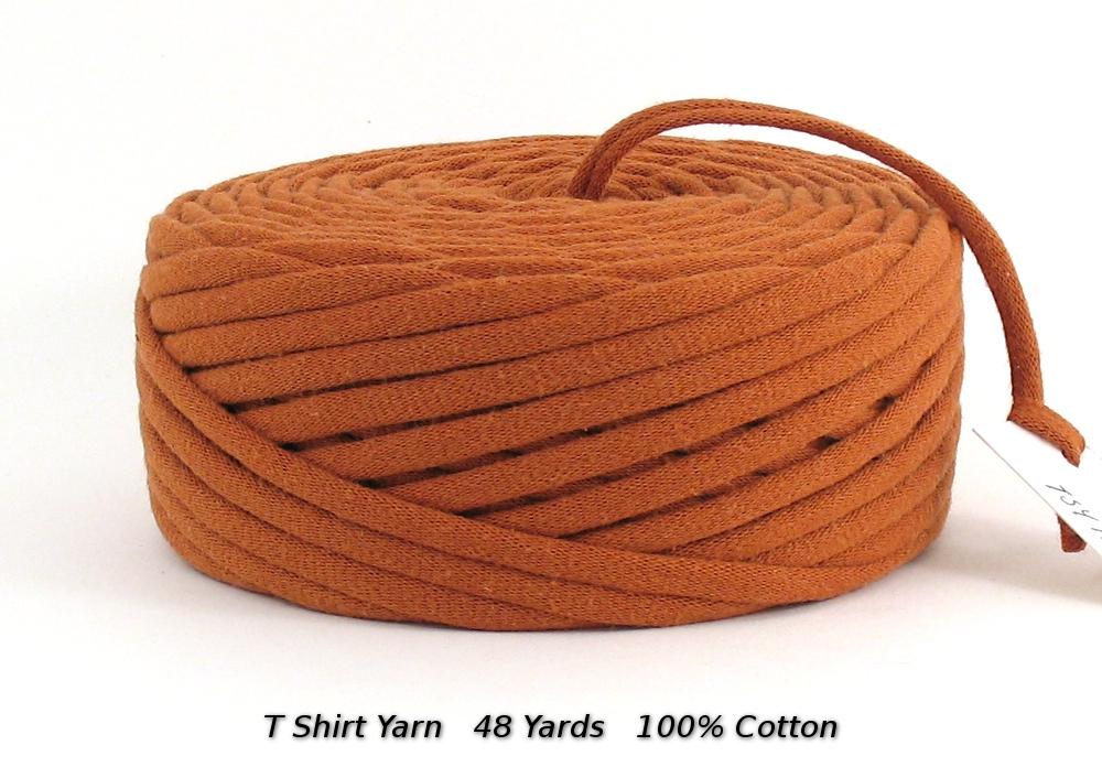 T Shirt Yarn Recycled Upcycled Burnt Orange 48 Yards Super